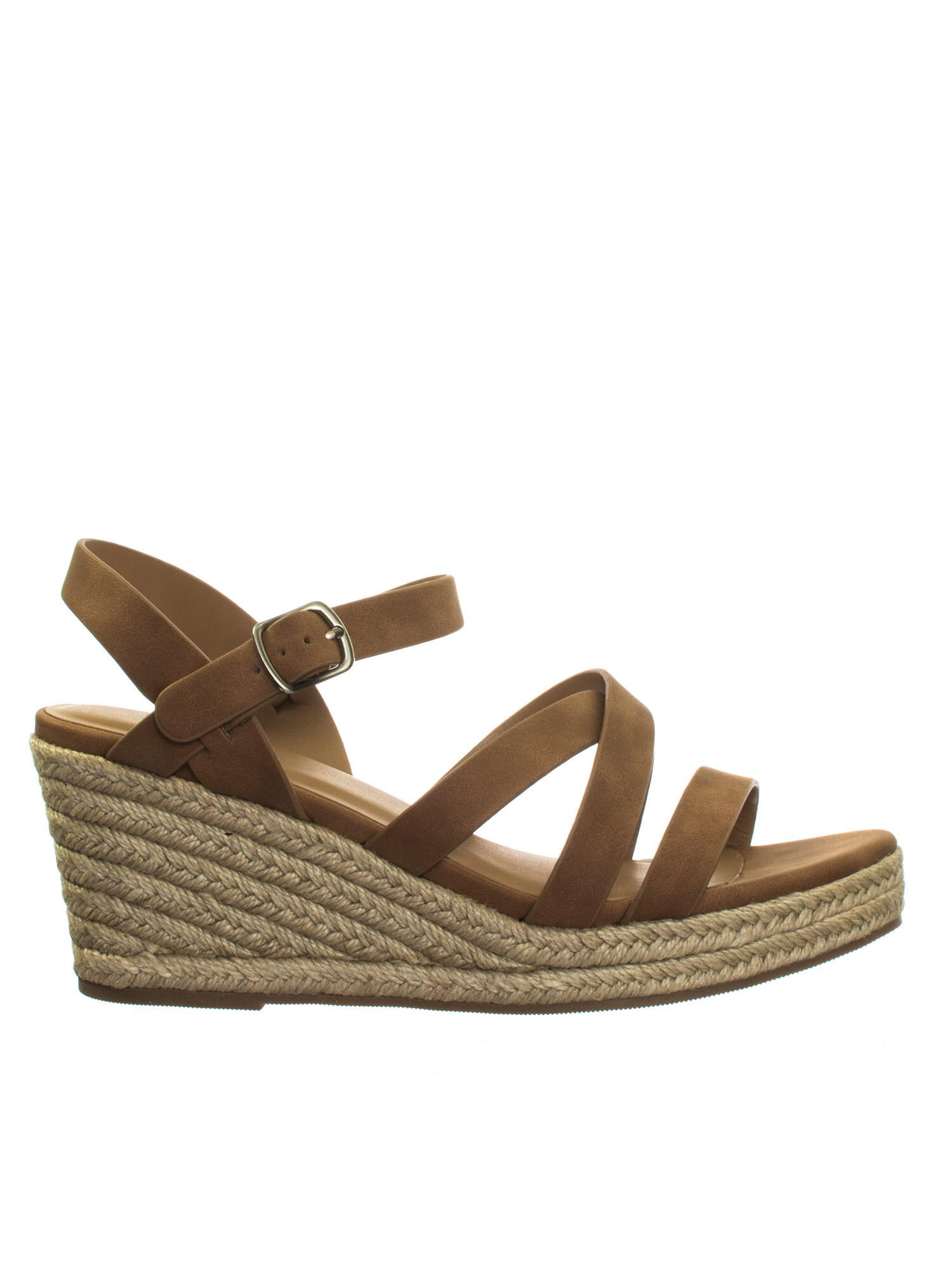 a8108f64214 Jubilee Tan Brown by City Classified Espadrille Rope Jute Wrap Platform  Wedge Open Toe Dress Sandal