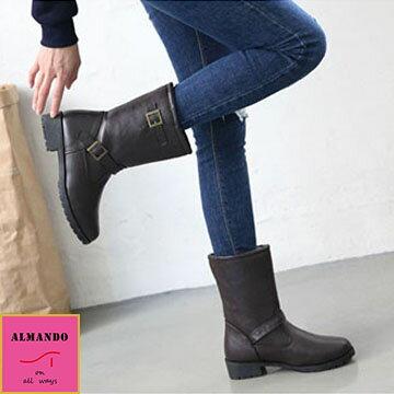 ALMANDO-SHOES ★卡蒂內鋪毛短筒靴★ 韓國空運