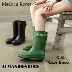 ALMANDO-SHOES ★正韓中筒透氣雨鞋★ 正韓空運