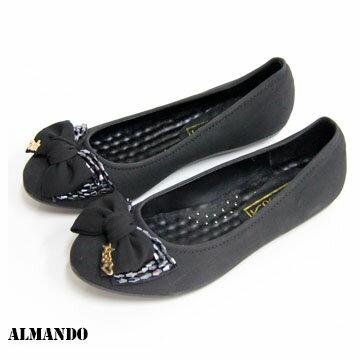 ALMANDO-SHOES 大蝴蝶結串珠*公主娃娃鞋*