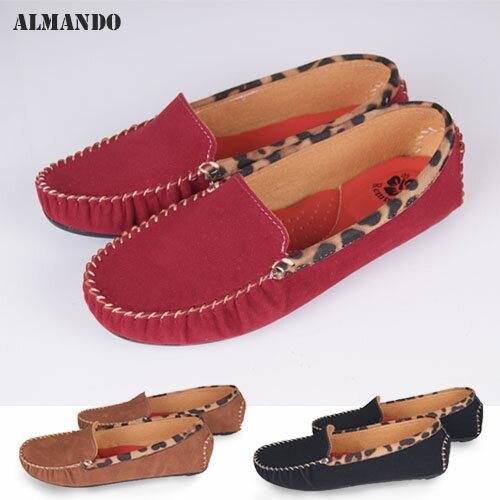 ALMANDO ★豹紋豆豆平底鞋