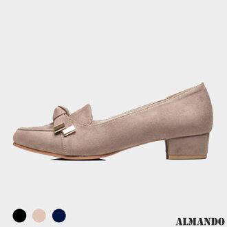 ALMANDO ★蝴蝶結低跟樂福鞋●正韓