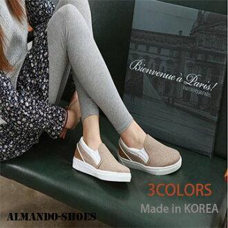ALMANDO SHOES ★正韓素面軟邊休閒平底鞋★ (3色)