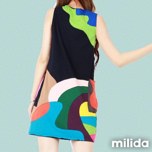 【Milida,全店七折免運】無袖大口袋可愛洋裝 2