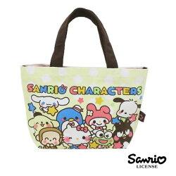 點點款【日本進口】凱蒂貓 美樂蒂 布丁狗 三麗鷗人物 帆布 手提袋 便當袋 Sanrio - 434731