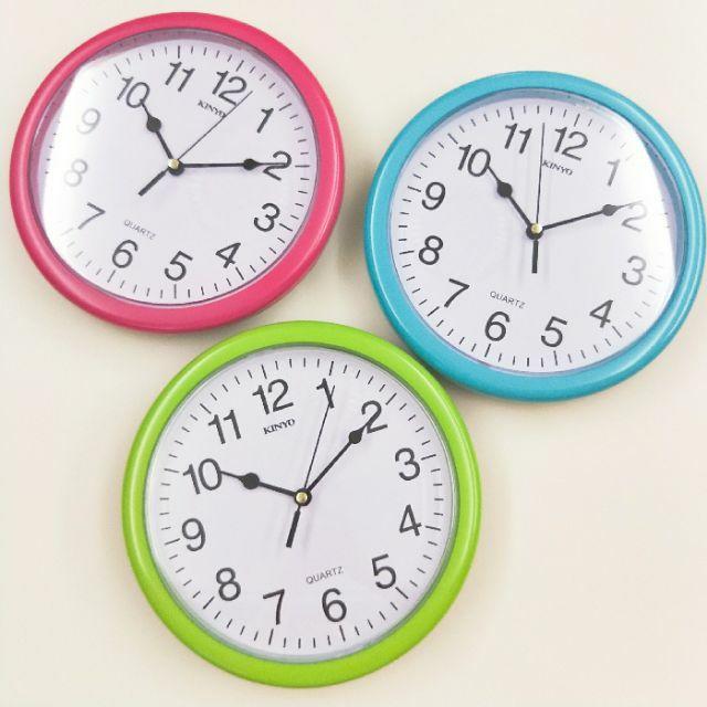 大信百貨 生活大管家 《大信百貨》KINYO CL-108 馬卡龍靜音掛鐘 時鐘 靜音時鐘 小型時鐘