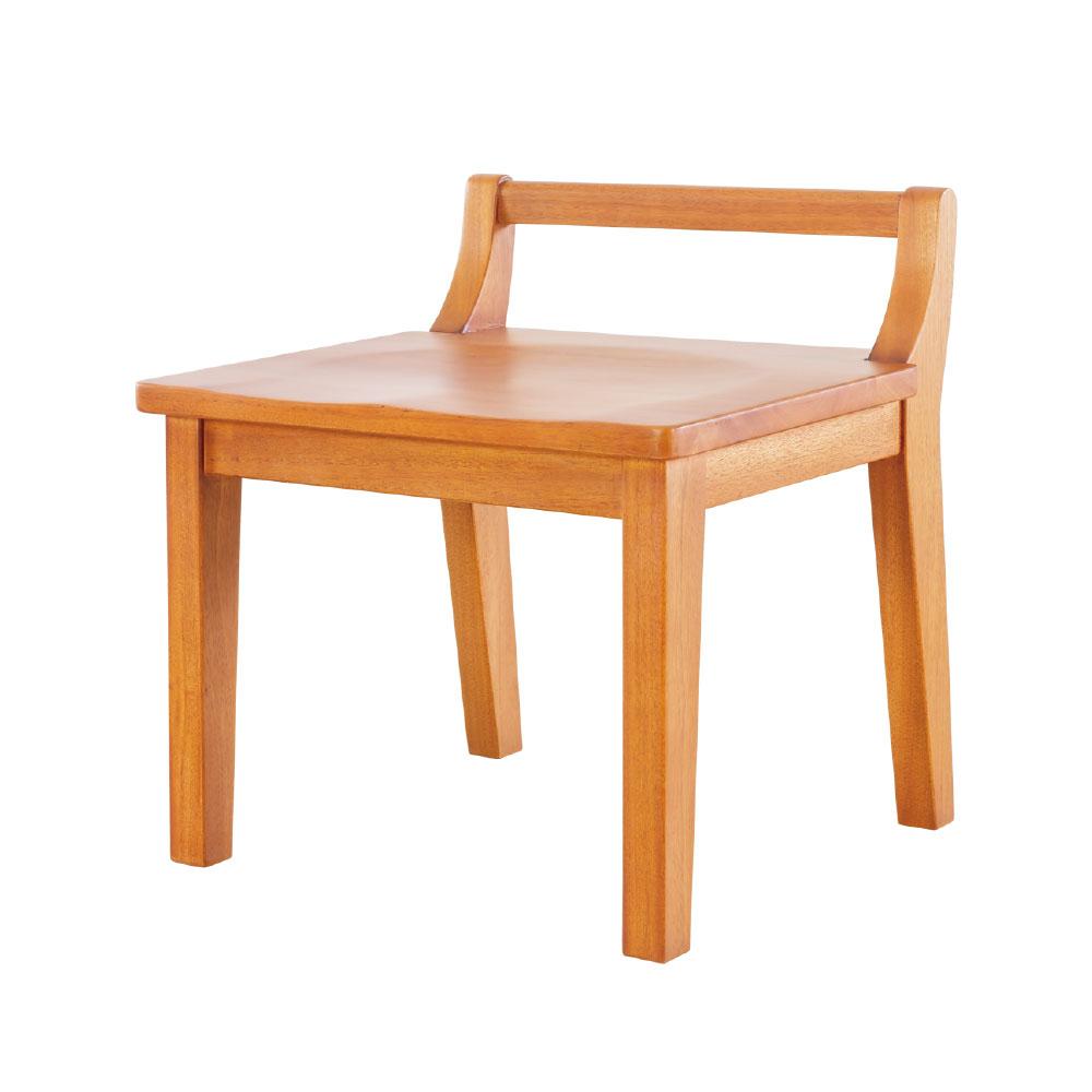 茶几板凳 椅凳 木頭椅 原木桃花心木 現代小板凳 41cmX39cmX50cm 瑪荷尼家具Mahogany 1