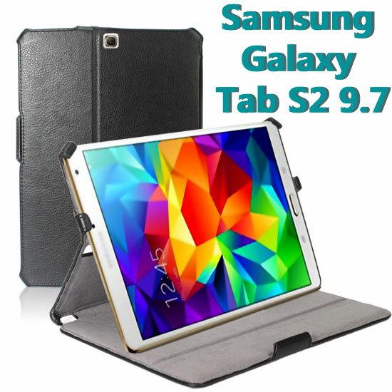 【熱定型】Samsung Galaxy Tab S2 9.7 T810/T815/T815C 荔枝紋平板皮套/邊角包覆側掀保護套/支架斜立展示