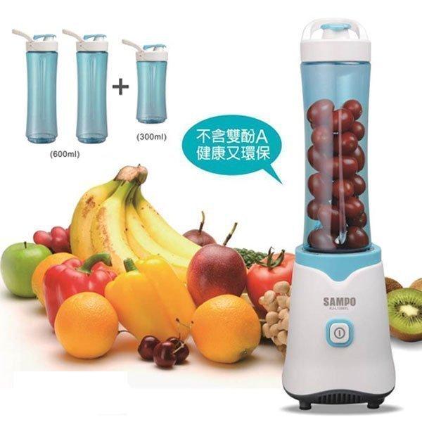 『 小 凱 電 器 』SAMPO 聲寶 隨行杯果汁機【三杯組-藍】KJ-L13061L