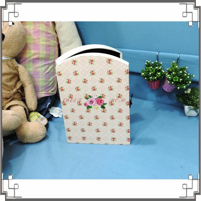 皮革KEY BOX《LK6-2》滿版花朵木製皮革鑰匙盒 收納盒 壁櫃 壁飾 鄉村風家飾◤彩虹森林◥