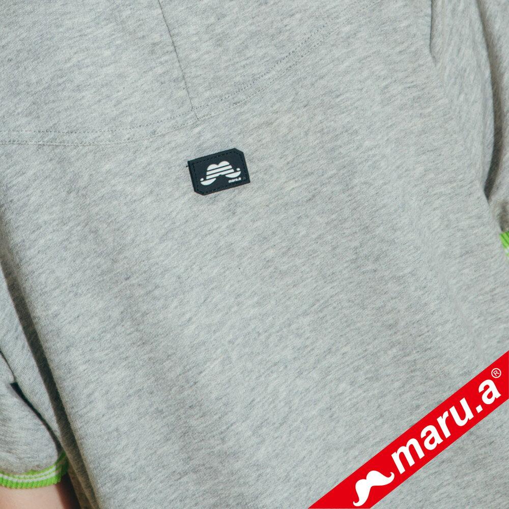 【maru.a】大鬍子撞色羅紋T-Shirt(2色)8321316 4