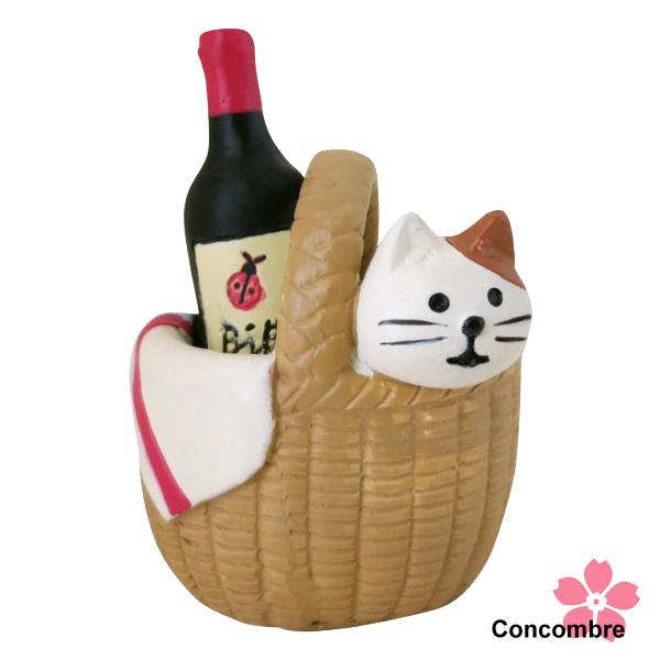 Decole 日本擺設小玩偶 / 公仔 / 攝影 / 佈置道具 - Concombre 野餐籃和小貓 ( ZCB-87263 ) 喵星人 現貨