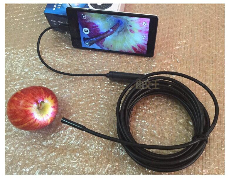 【手機內視鏡】1米 蛇管鏡頭7mm 安卓手機/電腦兩用內窺鏡 USB Android 防水 Cam-098-1.0M