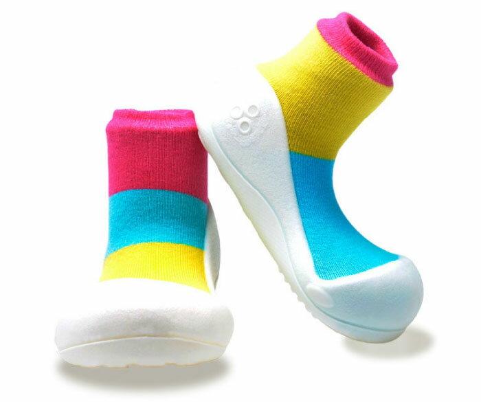 【本月特價$599】韓國【Attipas】快樂腳襪型學步鞋-居家粉紅 1
