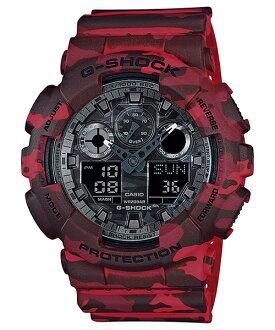 國外代購 CASIO G-SHOCK GA-100CM-4A 叢林迷彩 防水 手錶 腕錶 電子錶 男女錶 迷彩紅