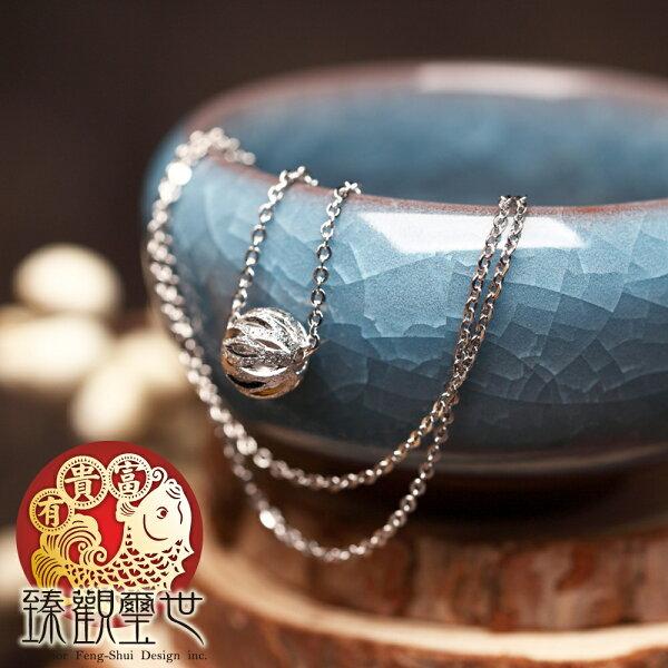 銀鈴之珠精刻轉運球項鍊含開光臻觀璽世IS4376