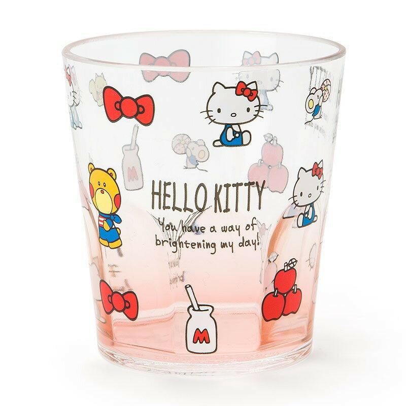 X射線【C315149】Hello Kitty 塑膠杯280ml,水杯/馬克杯/杯瓶/茶具/湯杯/玻璃杯/不鏽鋼杯/漱口杯