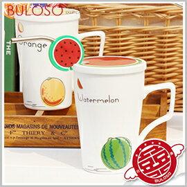 《不囉唆》水果吸管馬克杯帶蓋 馬克杯/咖啡杯/牛奶杯/杯子/帶蓋(不挑色/款)【A410781】