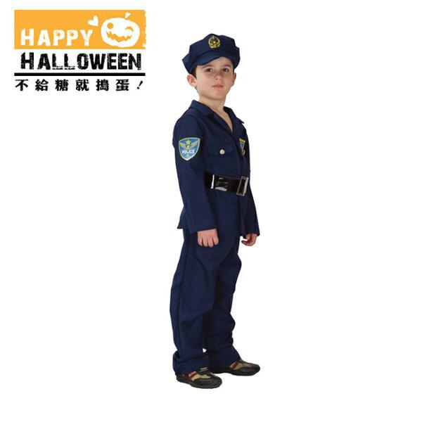 【派對造型服道具】萬聖節裝扮-藍色英勇警察服(L號)B-0045AL