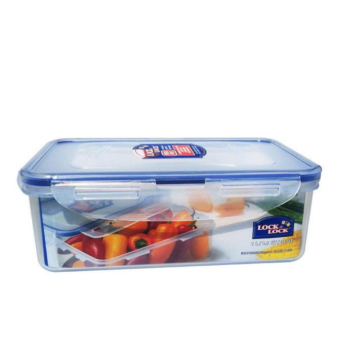 LOCK & LOCK 樂扣樂扣保鮮盒HPL817『方形1000ML』34OZ 密封盒 微波盒【GD235】  123便利屋