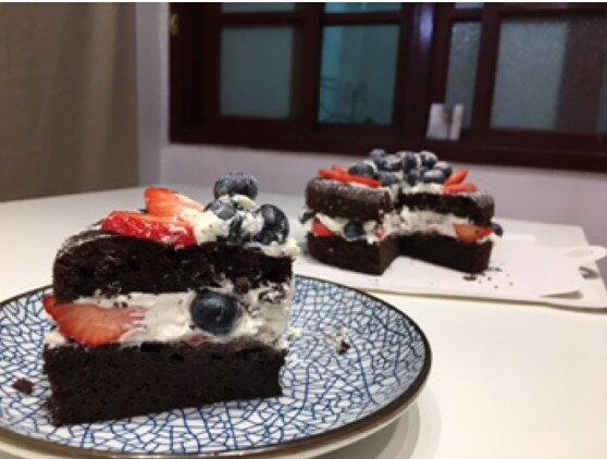 【甜野新星-甜點專賣店】母親節蛋糕 生日蛋糕〈生酮〉草莓藍莓巧克力蛋糕(新鮮草莓藍莓)