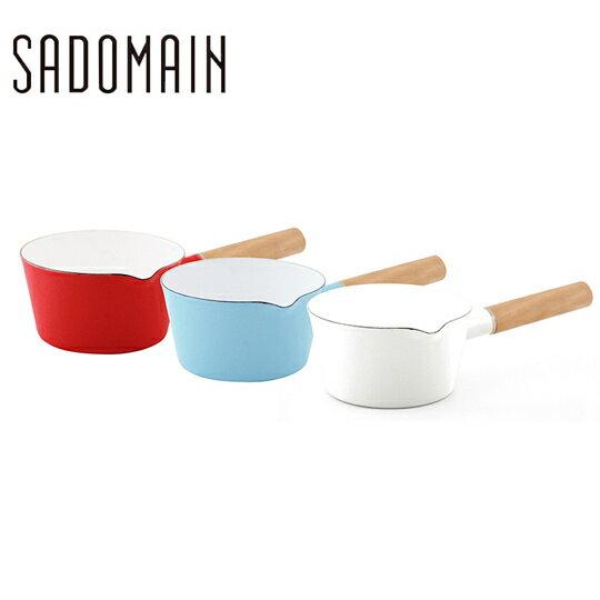 【晨光】仙德曼SADOMAIN 琺瑯單柄牛奶鍋  SV315 15cm 1.1L(復古紅、水樣藍、象牙白) (072921)【現貨】