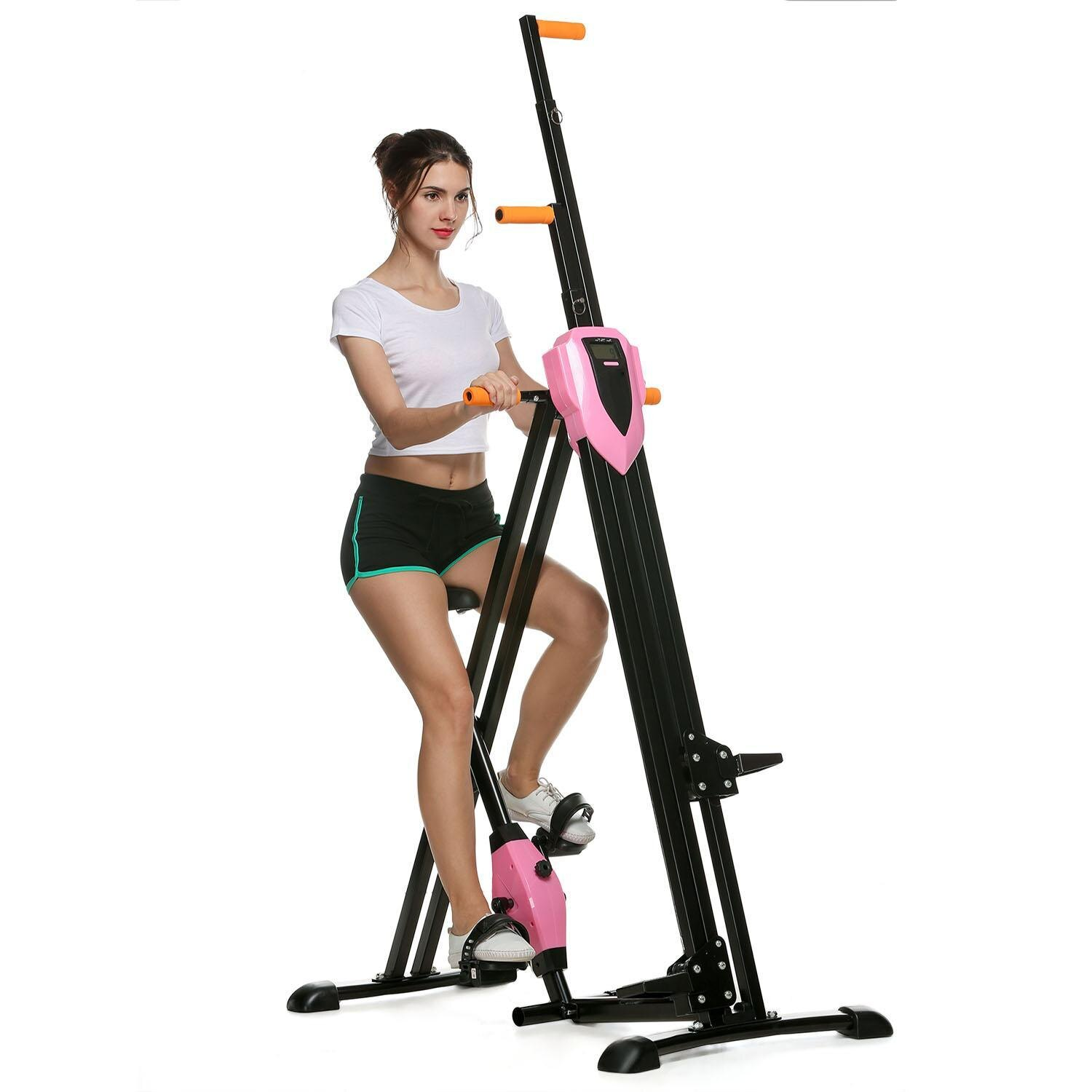Vertical Climber Gym Exercise Fitness Machine Stepper Cardio Workout Training non-stick grips Legs Arms Abs Calf 1