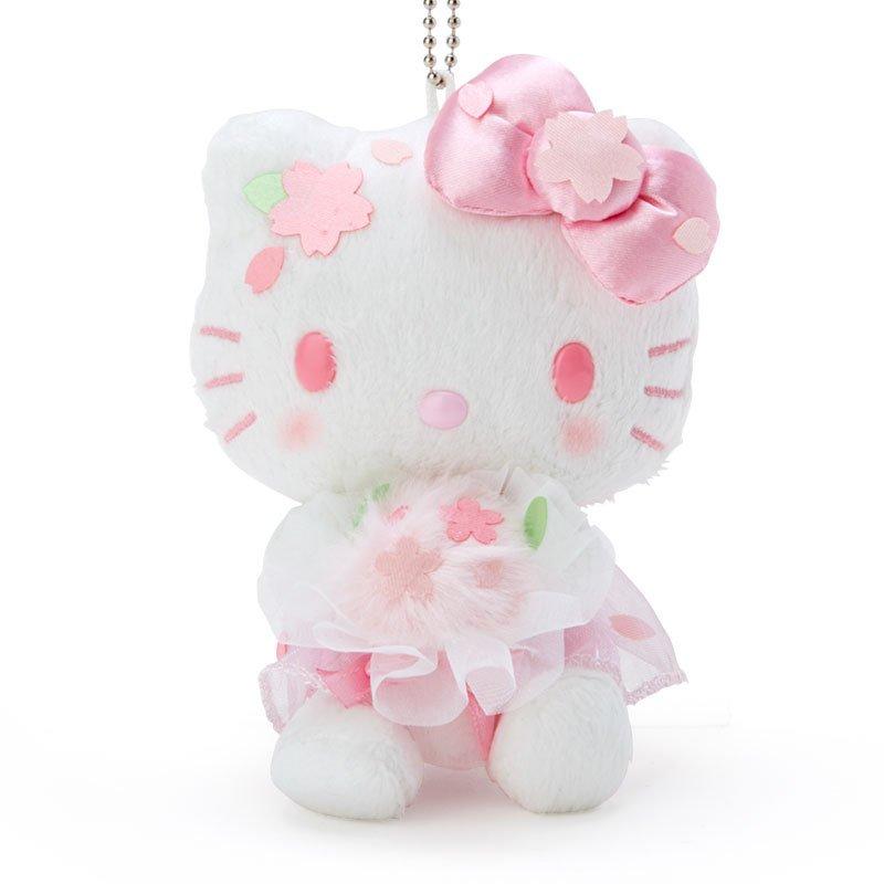 凱蒂貓kitty 櫻花捧花 珠鍊絨毛吊飾娃 GD24 絨毛娃娃 娃娃 布偶 玩偶 吊飾娃 掛飾 擺飾 真愛日本