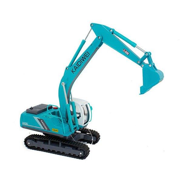 【888便利購】【KDW凱迪威】1:40高仿真合金挖土機(綠色)(有音效)(622006)(高質量模型)(授權)