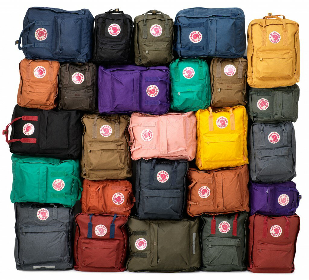 【Fjallraven Kanken 】K?nken Classic 550-326 Black & Ox Red 黑公牛紅 7