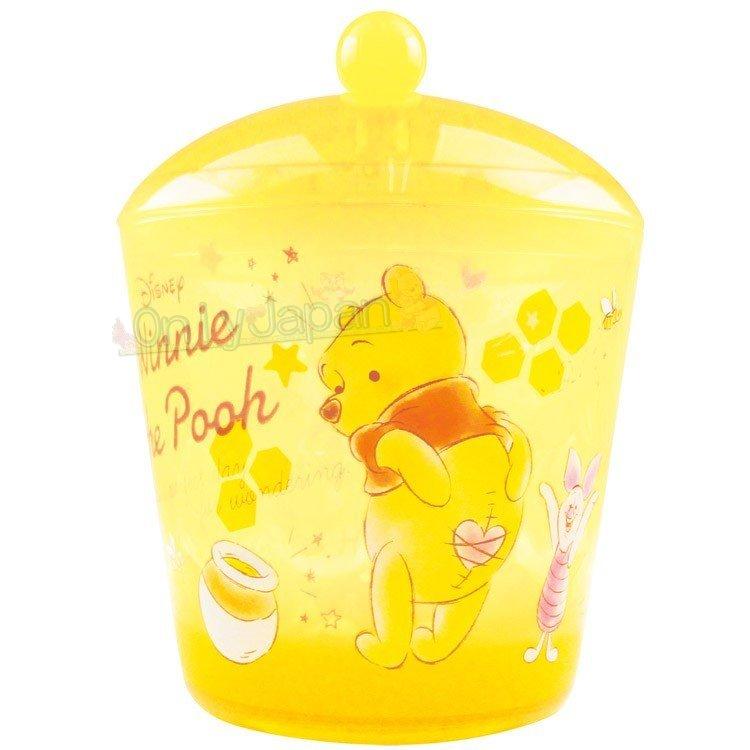 【真愛 】4548626093083 透明小物收納罐-PH糖罐黃 小熊維尼pooh 飾品盒 收納盒 收納罐 置物罐 儲物罐 桌上收納