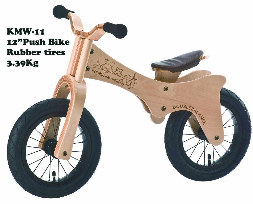 特價中~免運~【Double Balance】兒童滑步車【彎曲樺木】12吋平衡車 台灣製造 KMW-11曲木 時尚 氣質