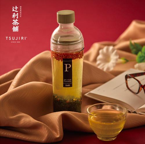 【辻利茶舗 x HARIO】辻光茶道具禮盒 (夜月),波特保冷泡茶壺400ml+松印玄米茶100g。 1