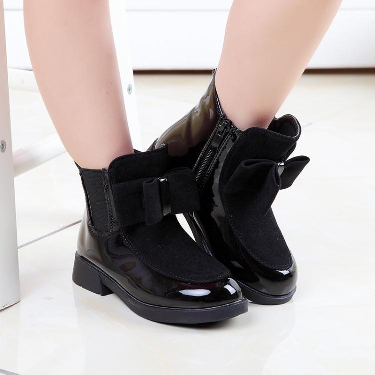 女童靴子韓版公主靴新款中大童加絨低筒短靴LJ1325『miss洛羽』