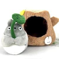宮崎駿龍貓周邊商品推薦TOTORO 在樹裡躲雨的龍貓玩偶 M尺寸 日本帶回正版商品 宮崎駿