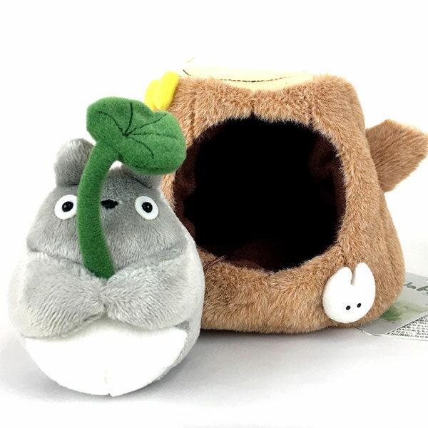 TOTORO在樹裡躲雨的龍貓玩偶M尺寸日本帶回正版商品宮崎駿