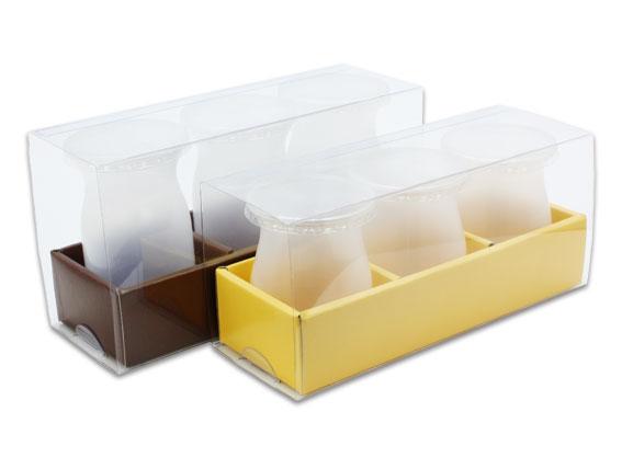 【G17336】外帶盒、紙盒、包裝盒3格(深棕色)(3入含透明盒、內格)
