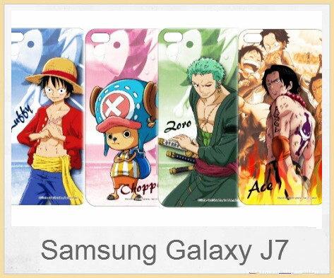 SamsungGalaxyJ7航海王海賊王人物系列正版授權透明彩繪軟式手機殼軟膠透明殼手機殼