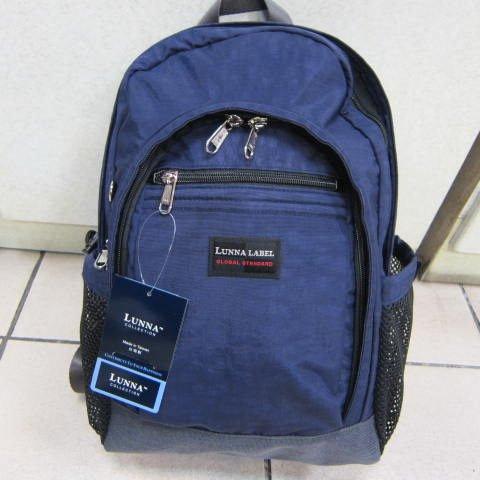 ~雪黛屋~LUNNA CLUB輕巧電腦後背包 可放電腦護腰分攤重量功能高單數防水尼龍布#7210 藍紫