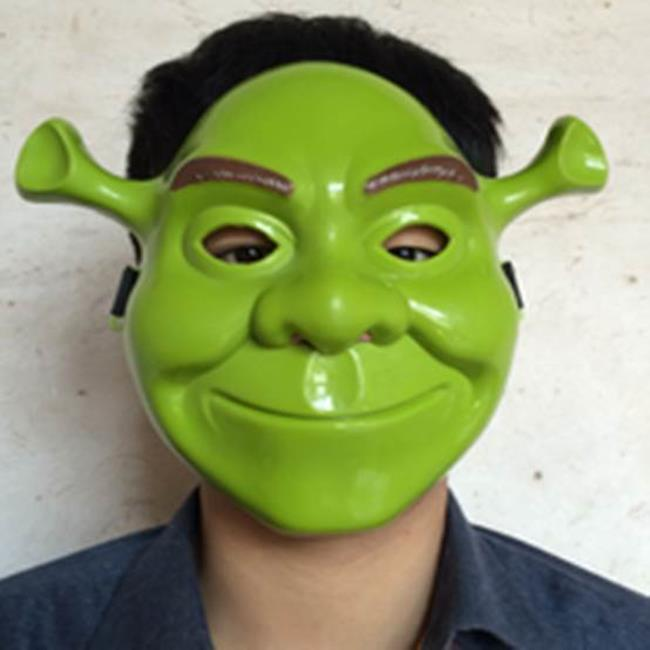 萬聖節 史瑞克 卡通漫畫 綠巨人 頭套 面紗 面具/眼罩/面罩cosplay 派對 整人生日 聖誕禮物【塔克】
