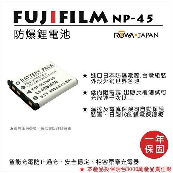 攝彩@樂華FORFujiNP-45(LI42B)相機電池鋰電池防爆原廠充電器可充保固一年