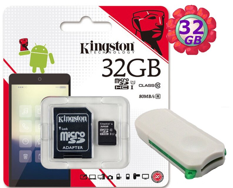 附V39 microSD 讀卡機 KINGSTON 32GB 32G 金士頓【80MB/s】microSDHC microSD SDHC micro SD UHS-I UHS U1 TF C10 Cl..