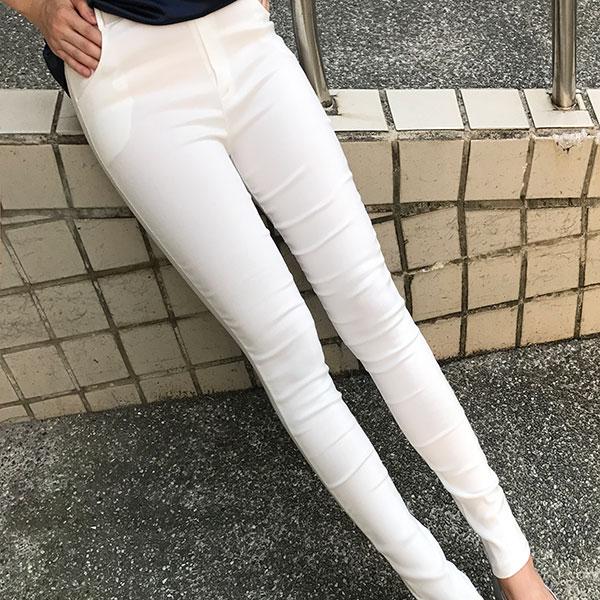 真褲頭 窄管褲 鉛筆褲 貼腿褲 小腳褲 內搭褲 打底褲 直筒褲 長褲 彈性顯瘦長腿百搭 破