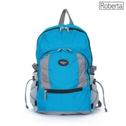 【Roberta Juden】小背包背開拉鍊 輕量防潑水布料(R702-水藍色)【威奇包仔通】