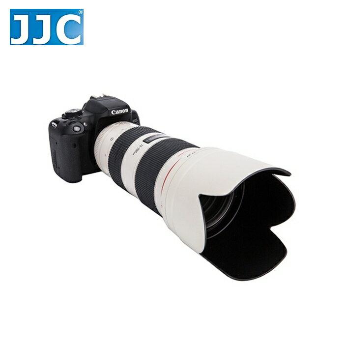 又敗家@白色JJC副廠Canon遮光罩ET-87遮光罩(插刀式,可反裝倒扣副廠遮光罩同佳能Canon原廠遮光罩ET-86太陽罩)適EF 70-200mm f2.8L II IS USM第2代小白遮光罩..