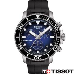 TISSOT 天梭錶 SEASTAR 1000海洋之星300米潛水石英款 T1204171704100藍x黑/46mm