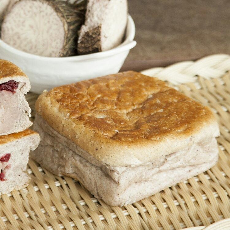 [蕃薯藤]芋頭麵包(T-W/C)芋頭麵包餡料是由自家製的新鮮芋頭製作而成,再搭上少許莓果,樸質的芋泥與微酸莓果是個讓人驚喜又不膩的風味,我們的芋頭麵包完全無添加人工芋頭香精,絕對是散發滿滿的天然的芋頭