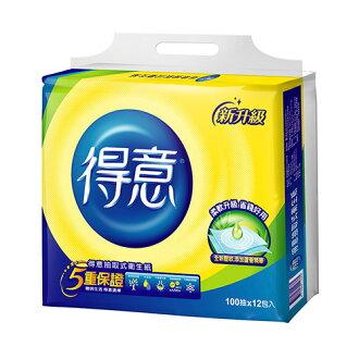 【豪上豪】得意抽取式衛生紙100抽10包*7袋