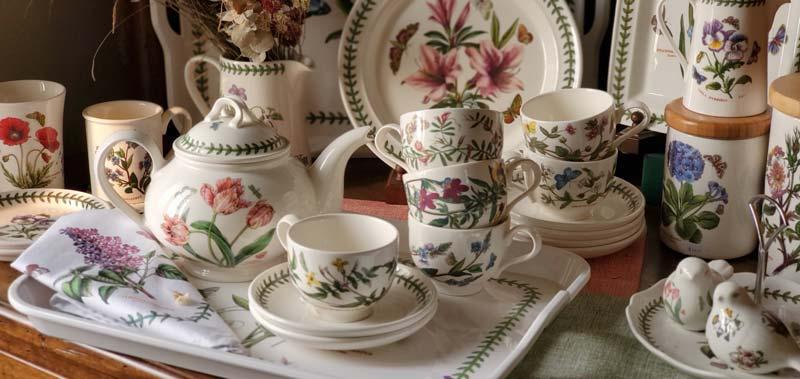 【閨蜜下午茶組】英Botanic Garden經典植物園系列-四杯一壺組加贈托盤