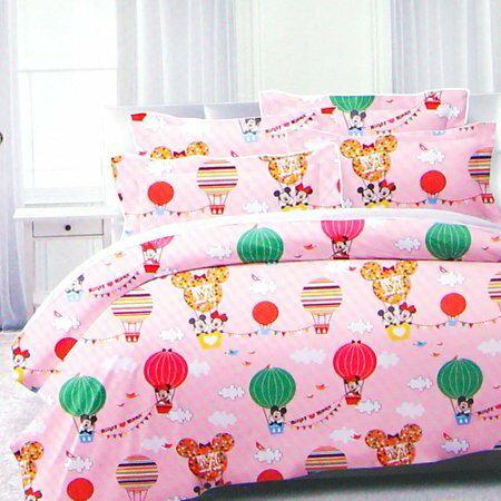 正版迪士尼雙人床包組(床套+枕套) 5x6.2尺 信封枕套 雙人床套 薄床包 台灣製【B060821】